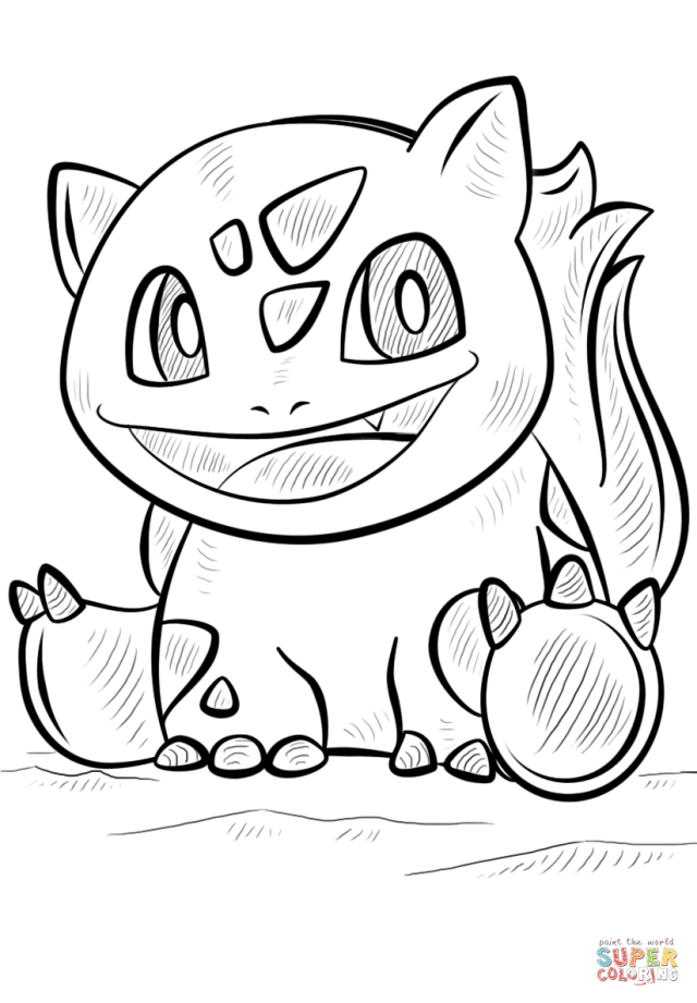 Bulbasaur Pokemon coloring page  Free Printable Coloring Pages