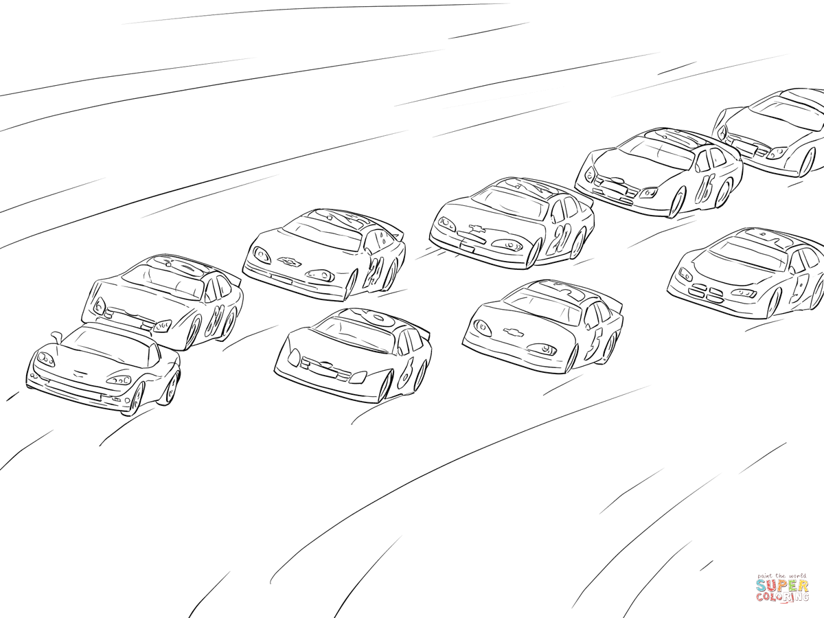 Nascar Side View Drawing
