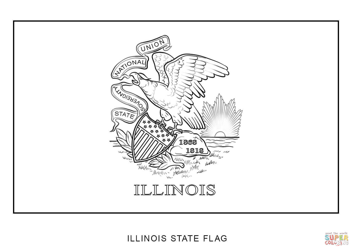 Countries Cultures Usa Illinois Coloring Pages Printable
