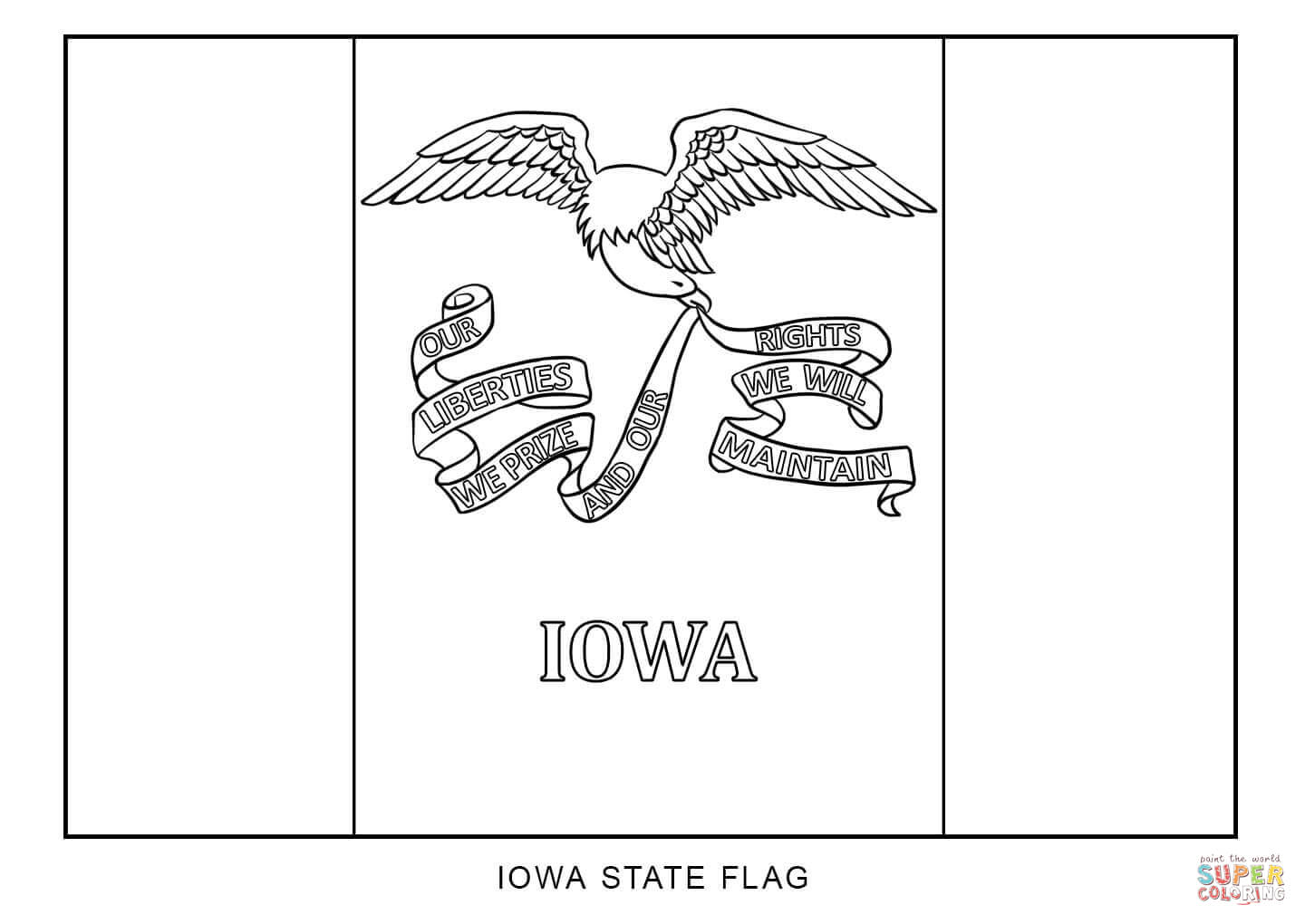 Flag Of Iowa Coloring Page