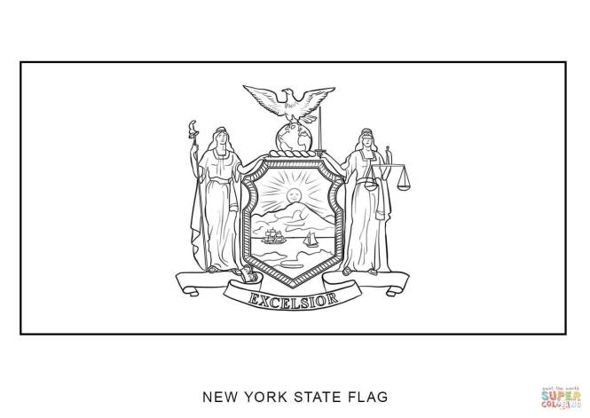 Click The Flag Of New York Coloring Pages