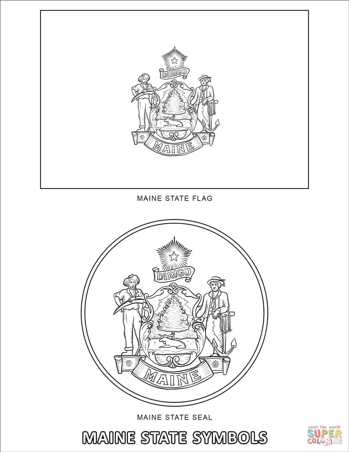 Countries Cultures Usa Maryland Coloring Pages Printable