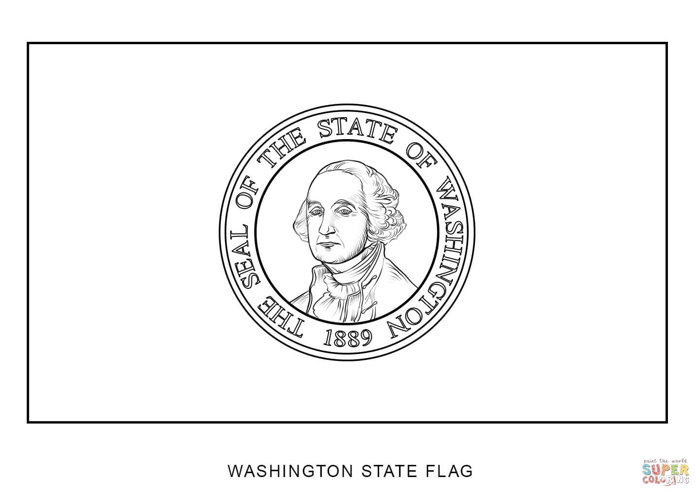 Washington State Flag Coloring Page