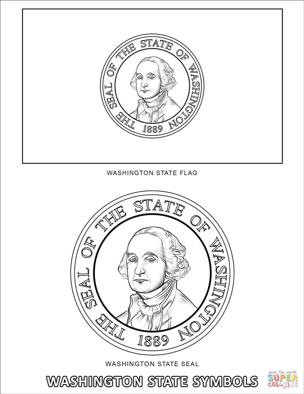 Washington State Symbols Coloring Page