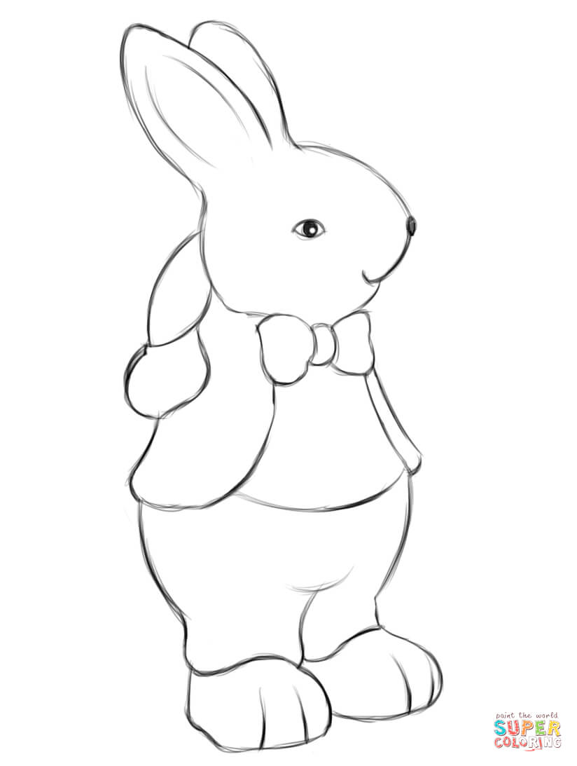 Easter Bunny Coloring Page Free Printable Coloring Pages