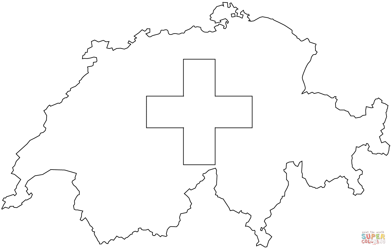 Switzerland Map To Color