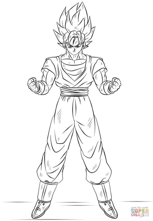 Goku Super Saiyan coloring page  Free Printable Coloring Pages