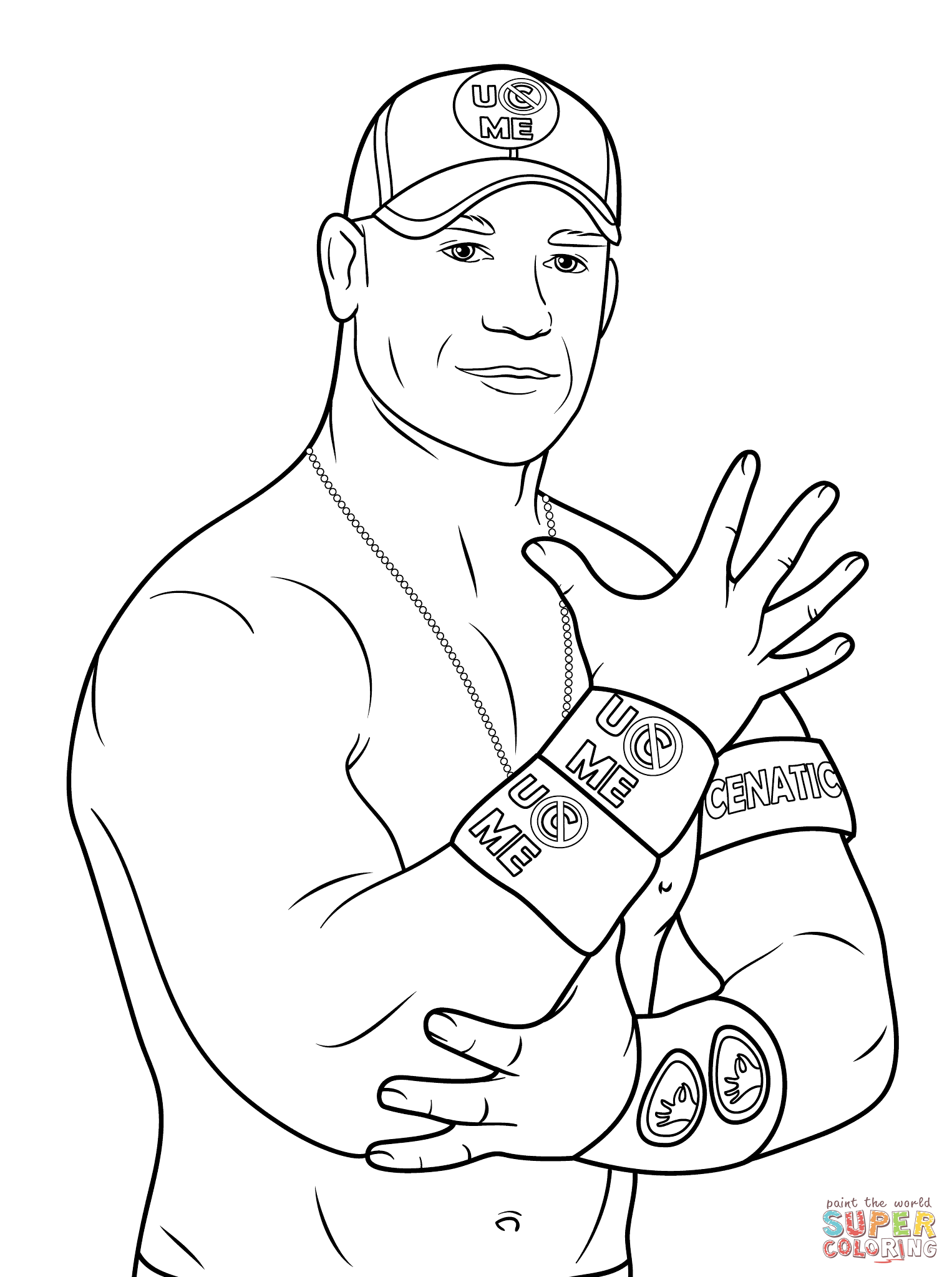 John Cena Coloring Page Free Printable Coloring Pages