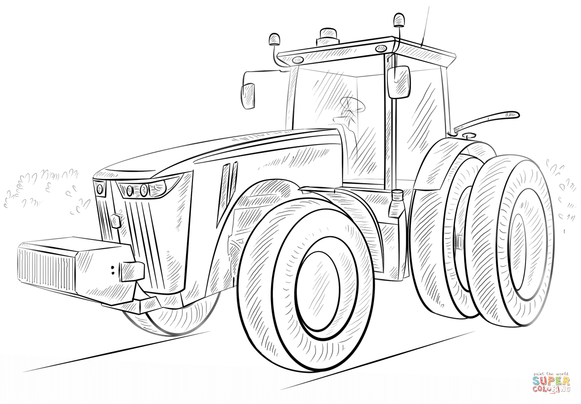John Deere Tractor Coloring Page