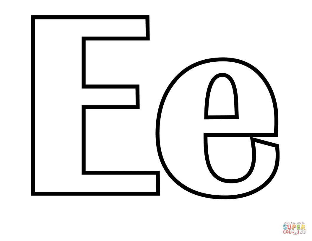 Classic Letter E Coloring Page