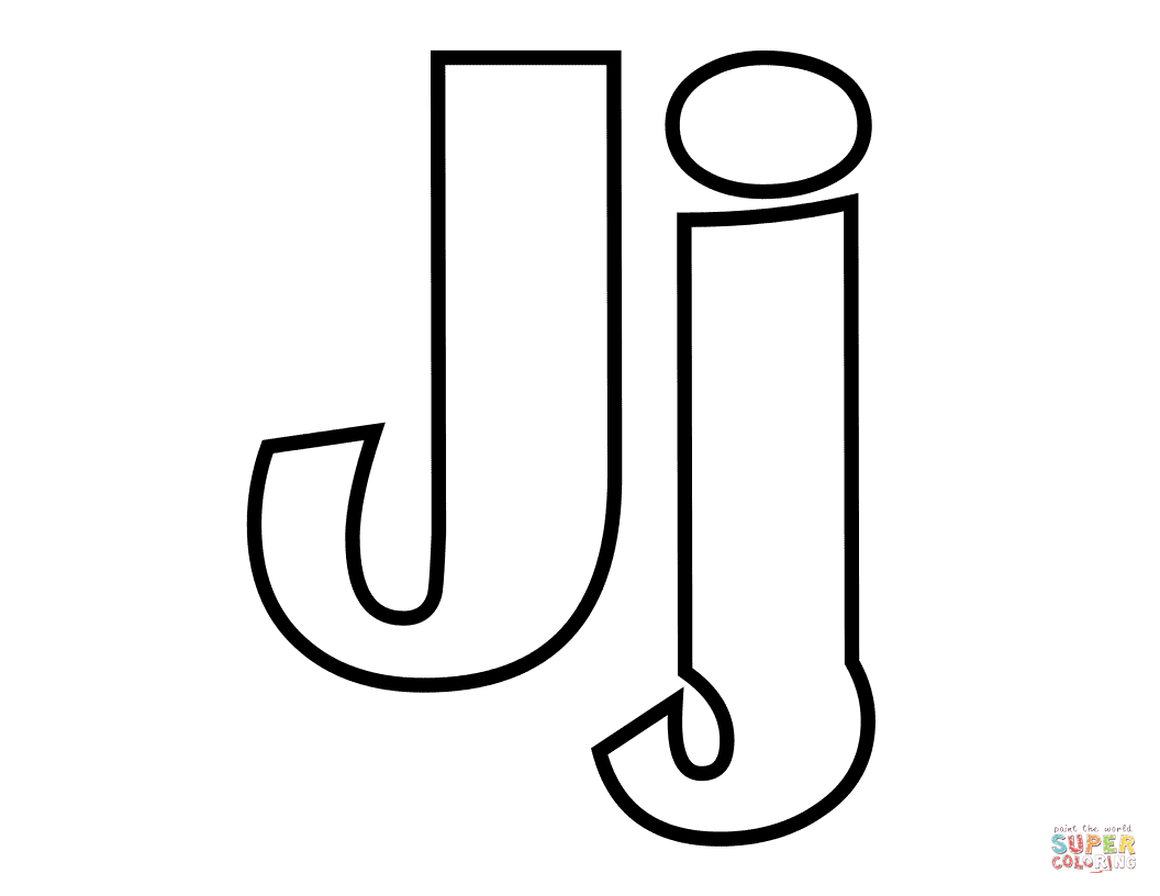Classic Letter J Coloring Page