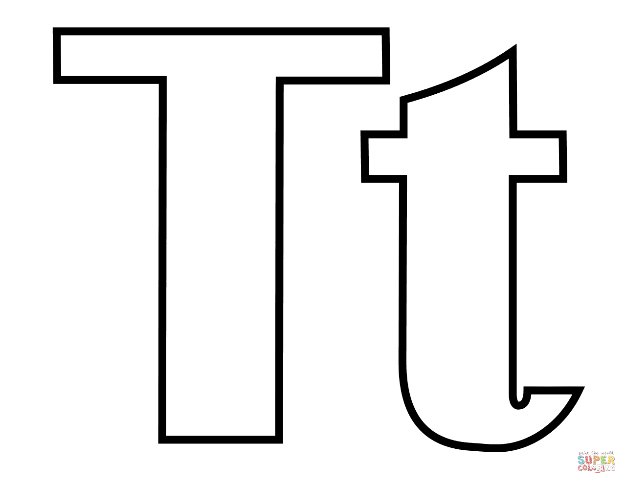 Letter T Coloring Pages Free Coloring Pages