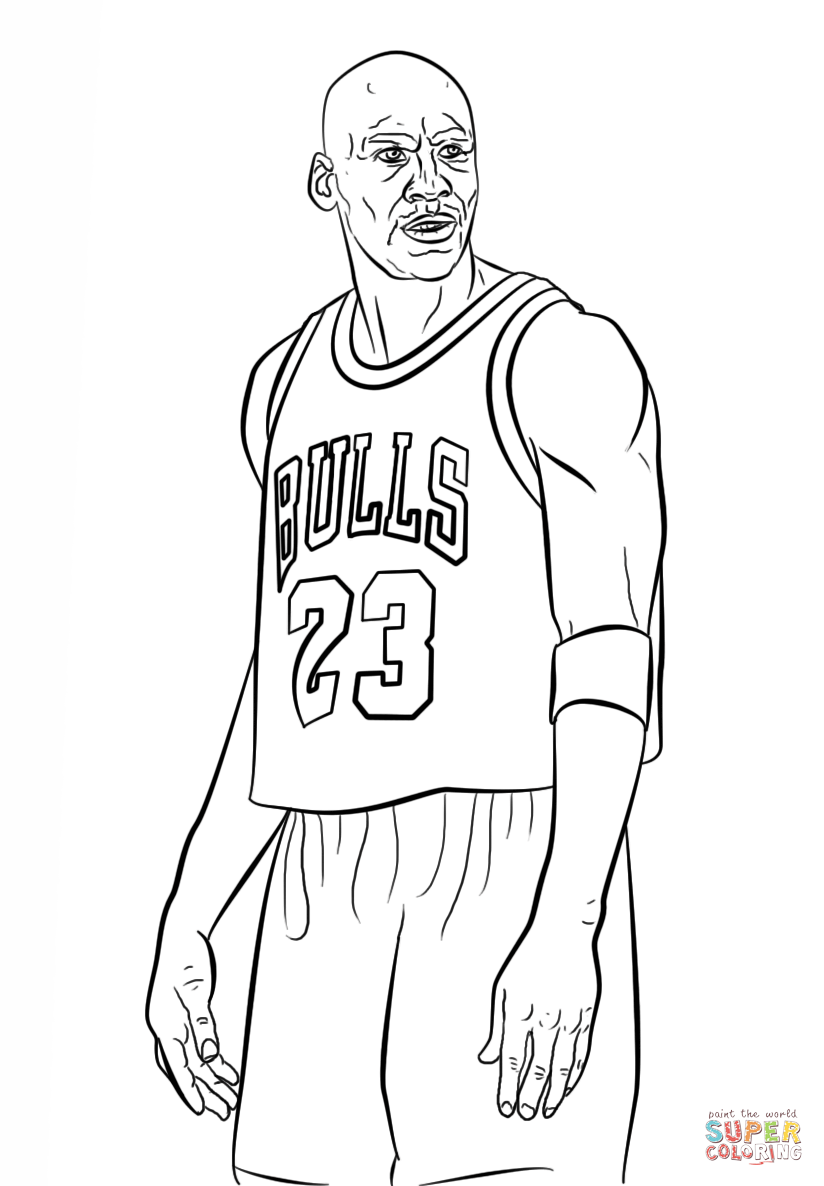 Michael Jordan Coloring Page Free Printable Coloring Pages