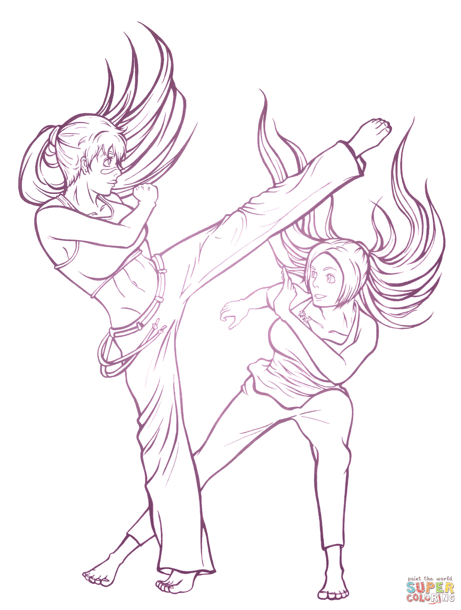 Capoeira Training From Manga Bleach Coloring Page
