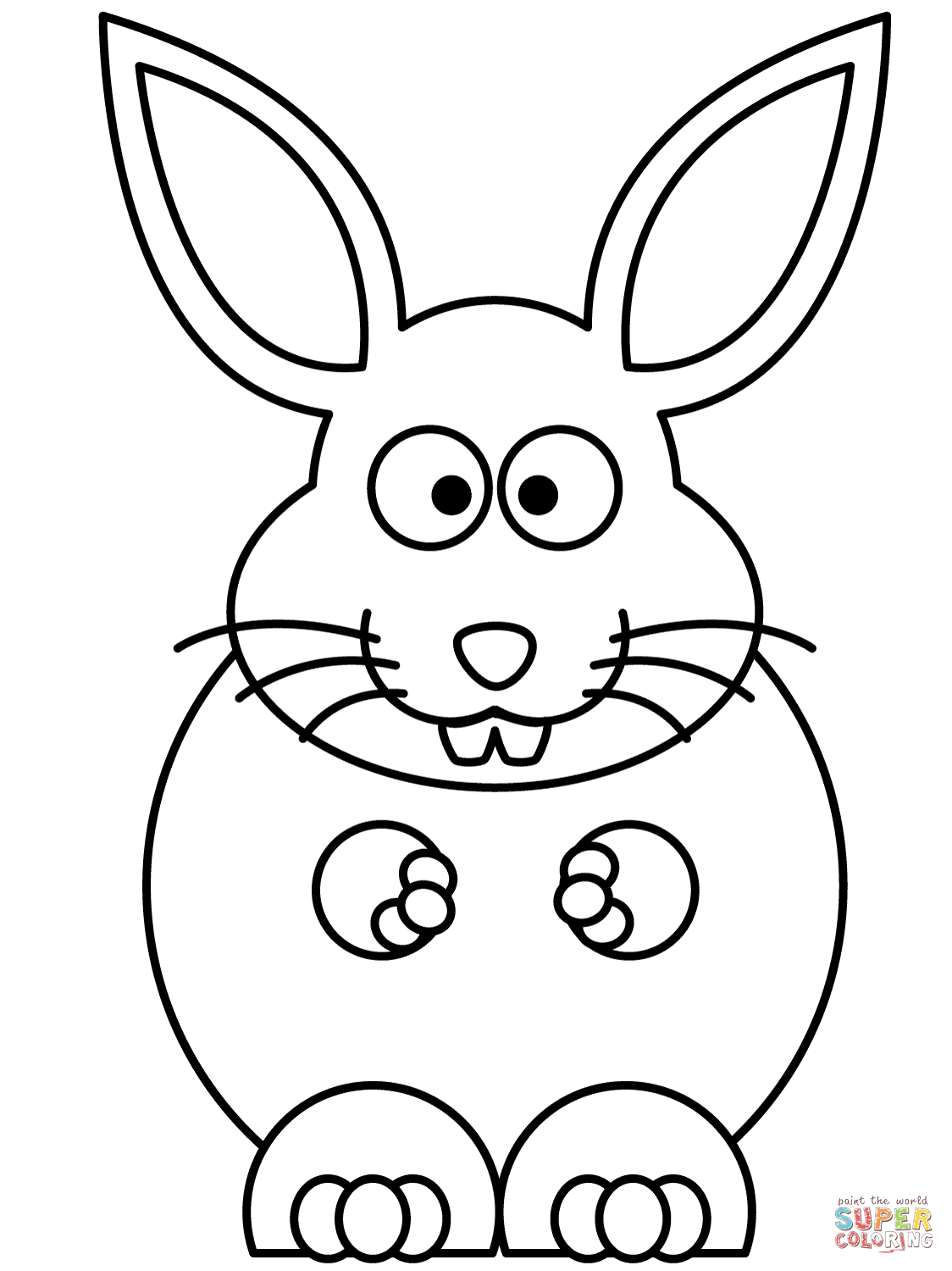 Comfortable Get This Easy Rabbit Coloring Pages For