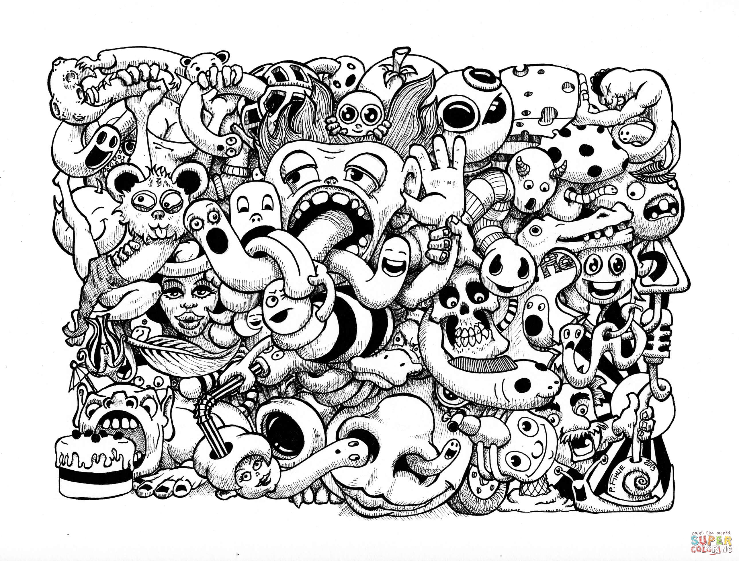 Doodle Art Coloring Pages Free Coloring Pages