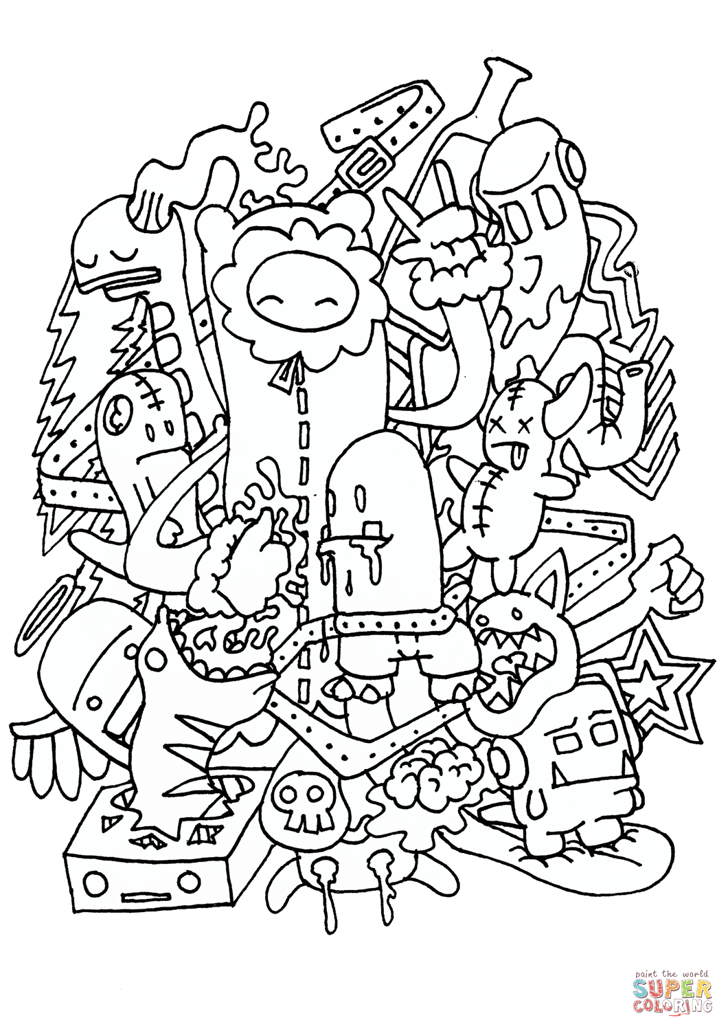 Doodle Rocking Coloring Page