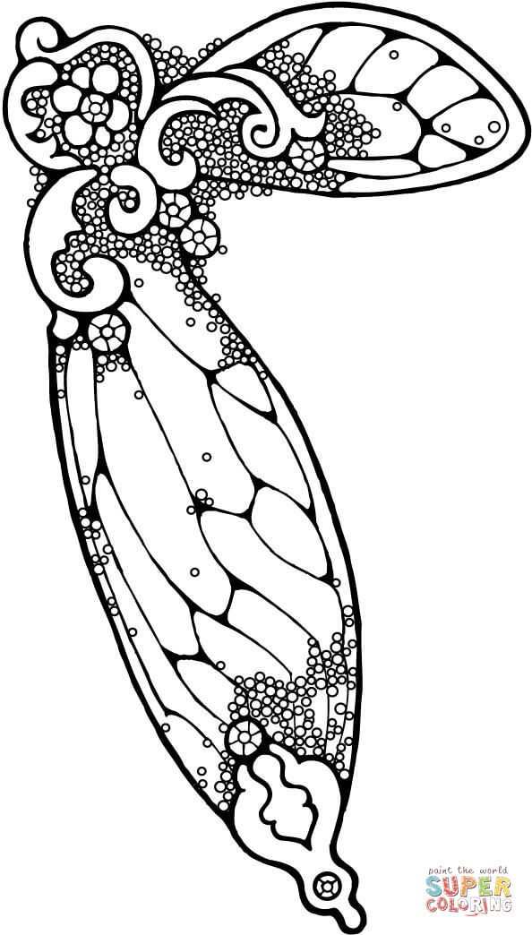 fairy wing coloring page  free printable coloring pages