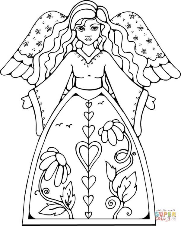 angels coloring pages # 18