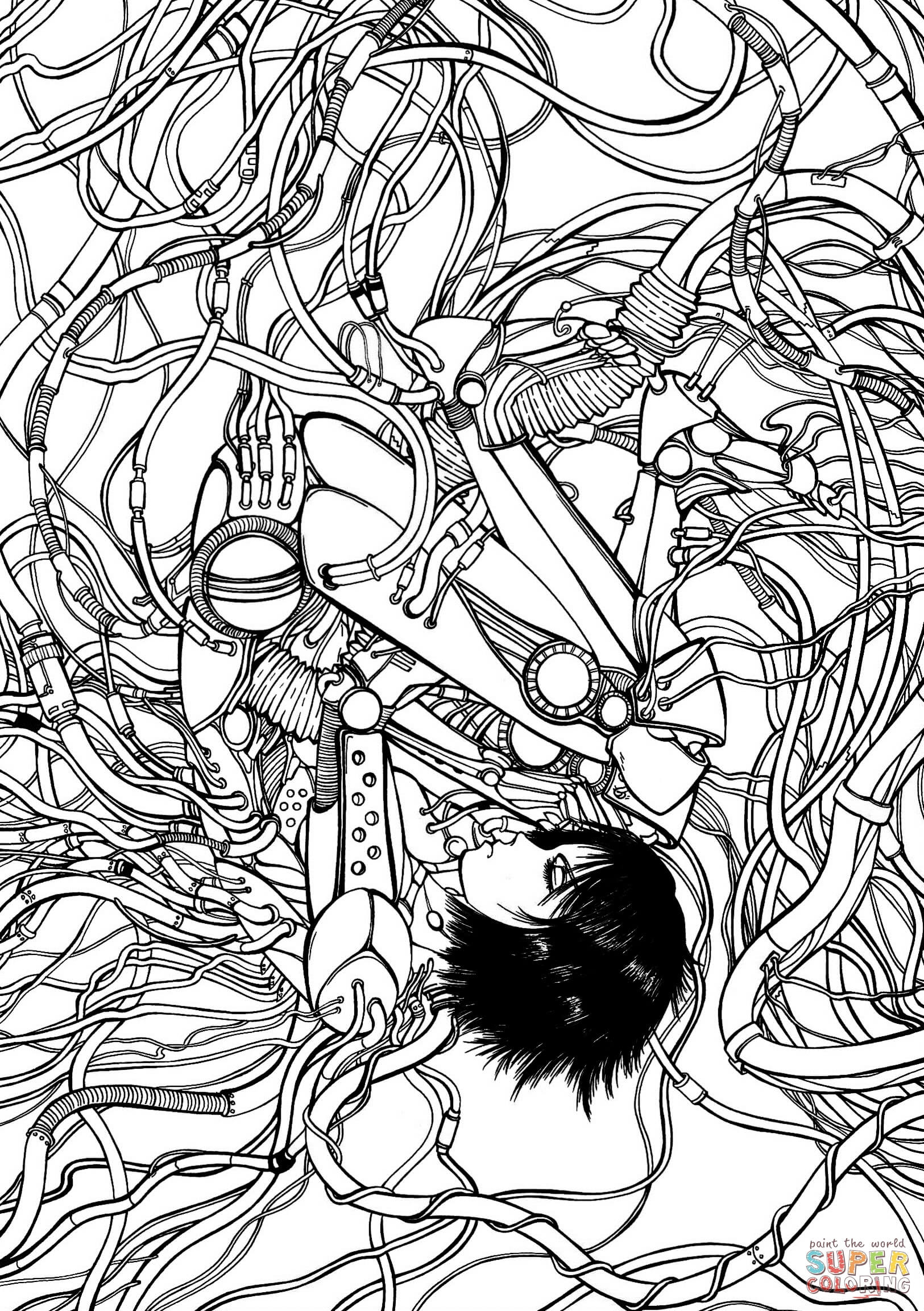 Gally From Gunnm Battle Angel Alita Coloring Page Free