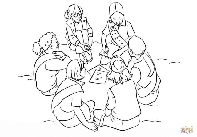 Girl Scouts coloring page  Free Printable Coloring Pages