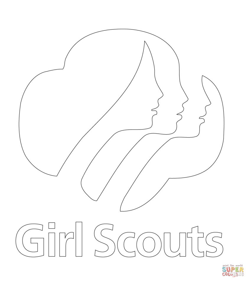 girl scouts logo coloring page  free printable coloring pages