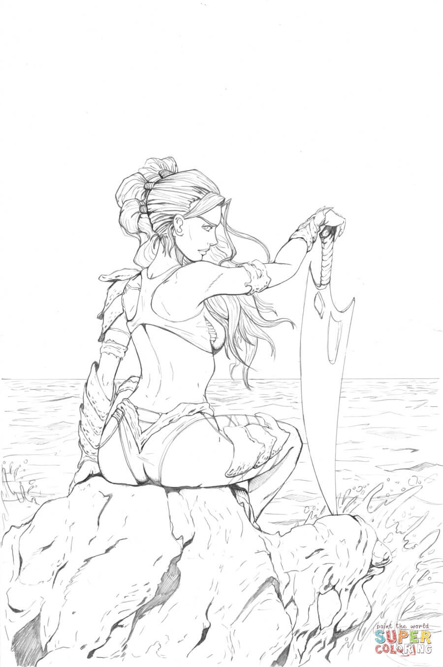 Kiani From Fathom Coloring Page Free Printable Coloring