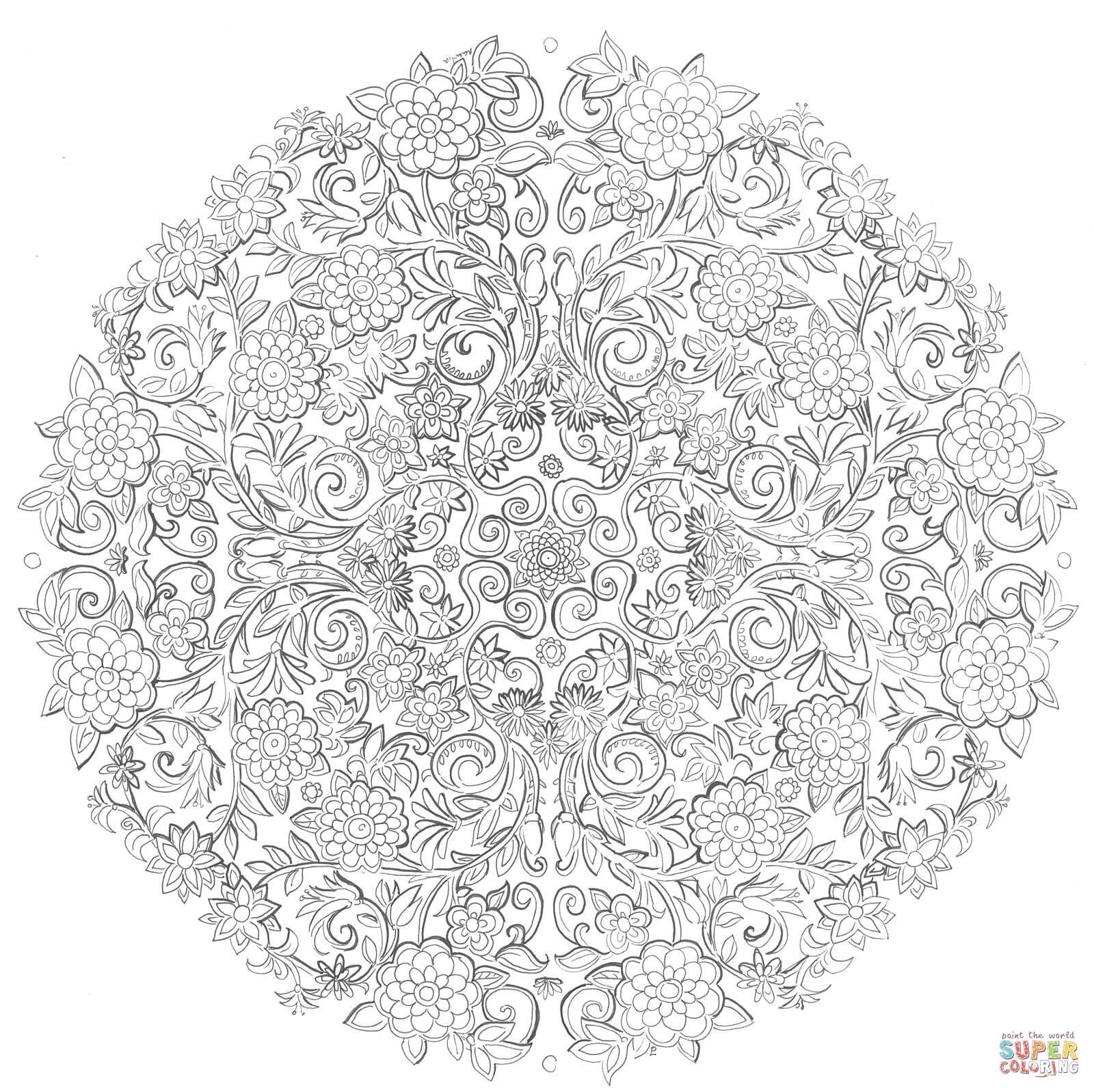 Last Days In The Secret Garden By Namtia Coloring Page