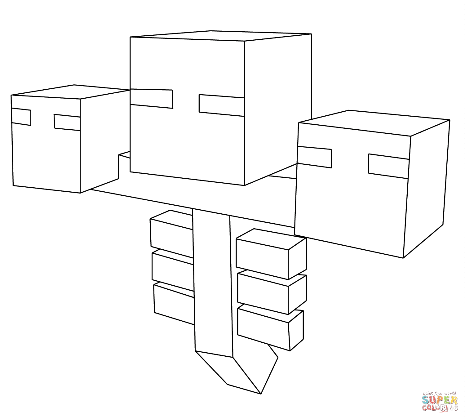 Minecraft Wither Coloring Page Free Printable Coloring Pages