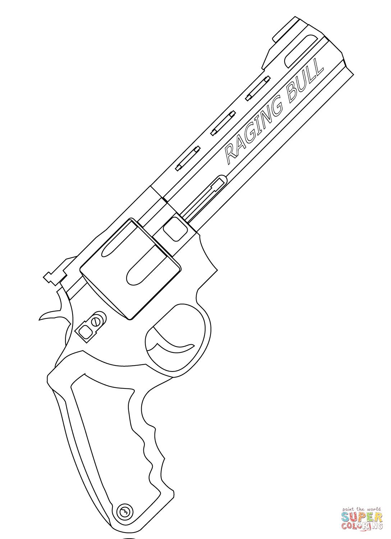 Ausmalbild Raging Bull Revolver