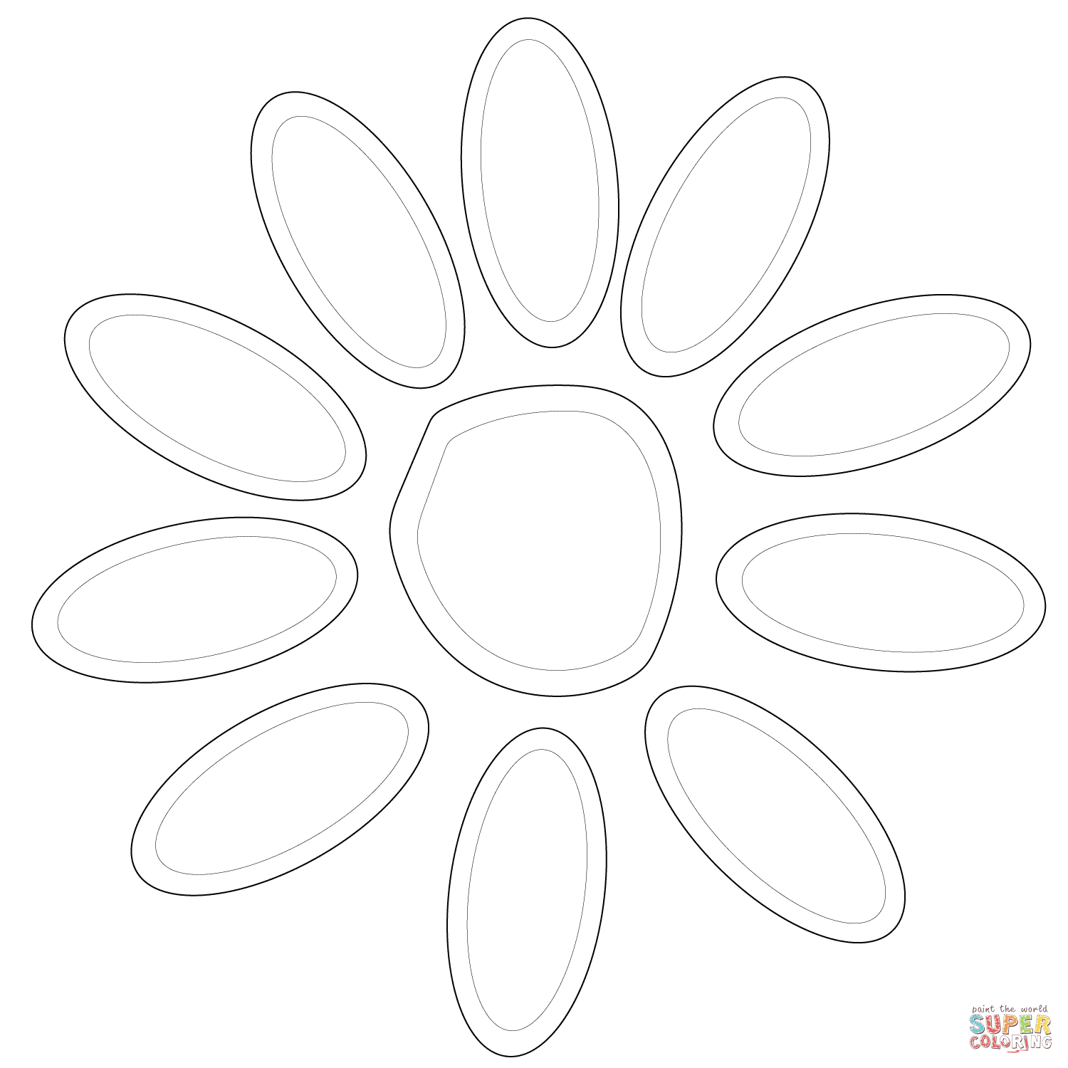 Girl Scout Daisy Petals Coloring Page