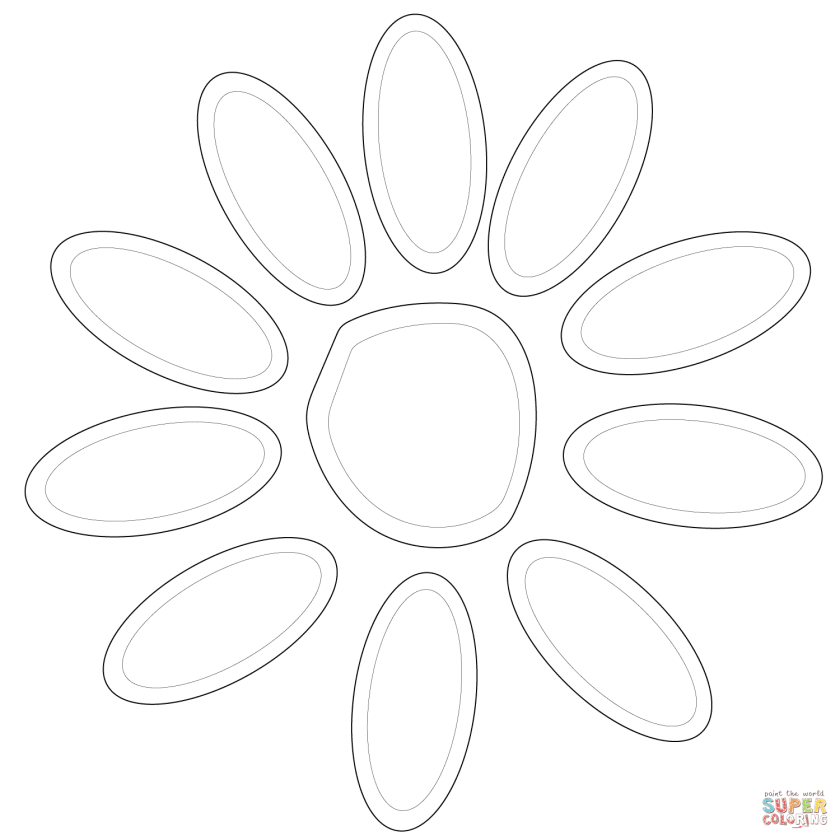 girl scout daisy petals coloring page  free printable