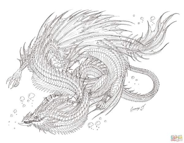 free dragon coloring pages # 4