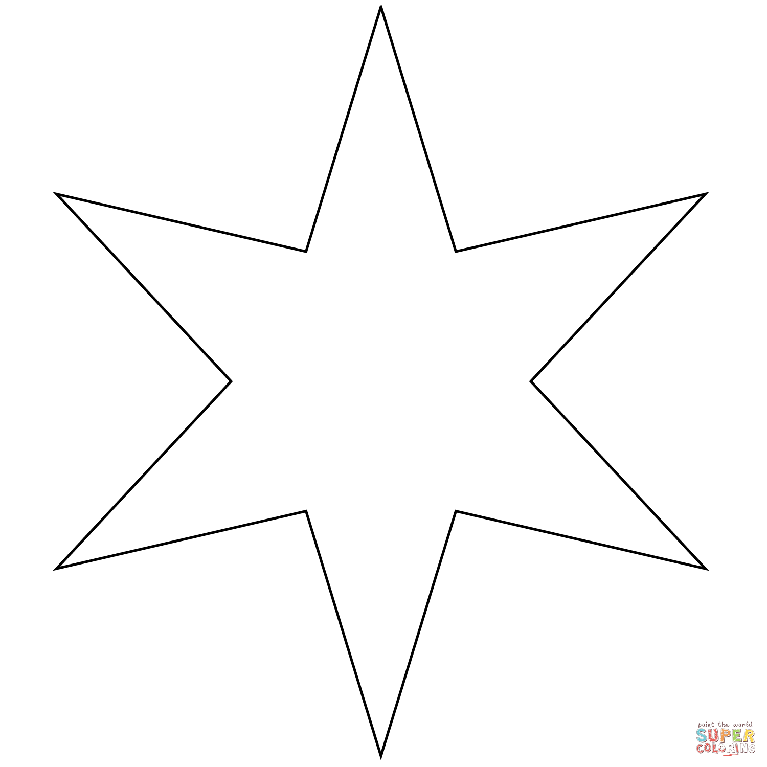 Six Pointed Star Coloring Page Free Printable Coloring Pages