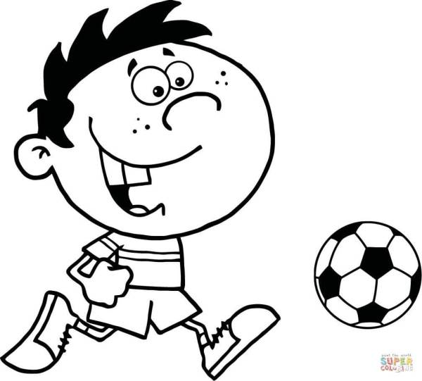 soccer coloring page # 10