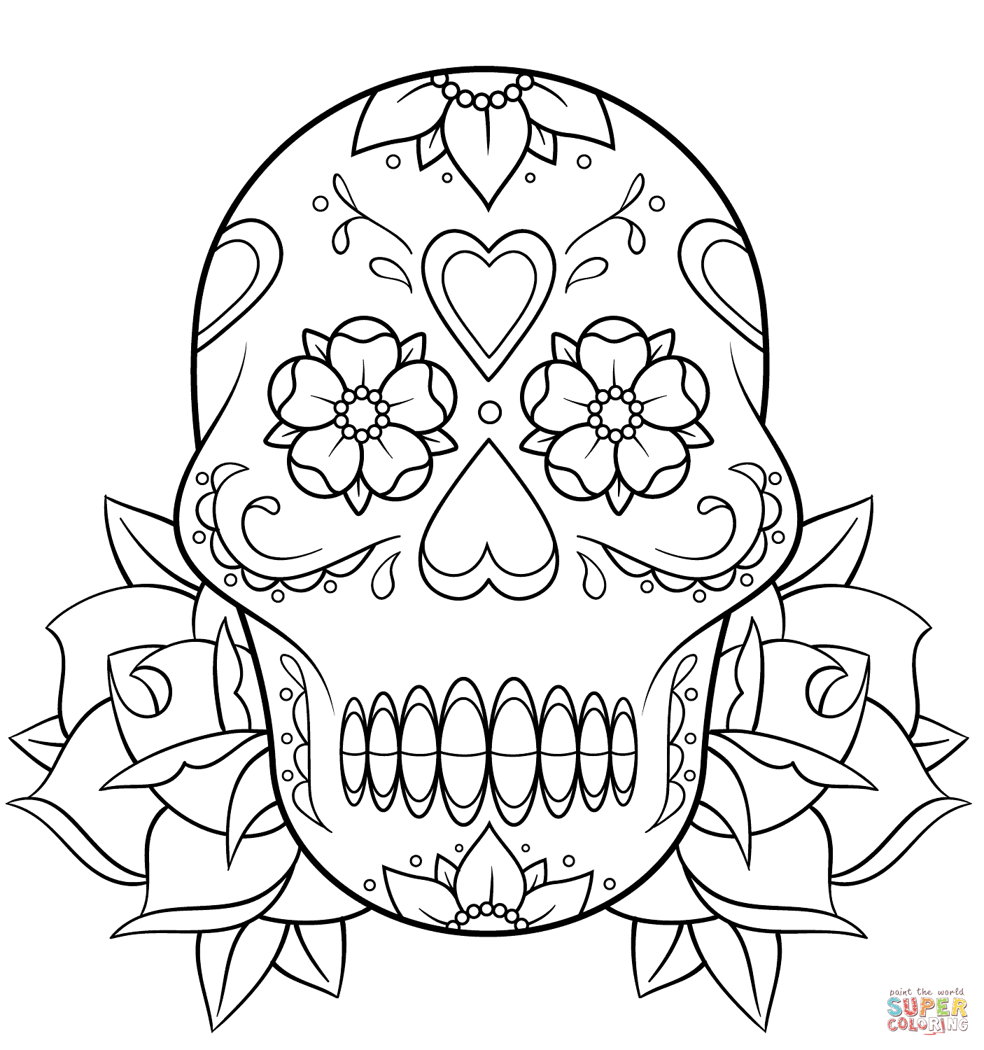 Skeleton Hand Drawing Coloring Coloring Pages