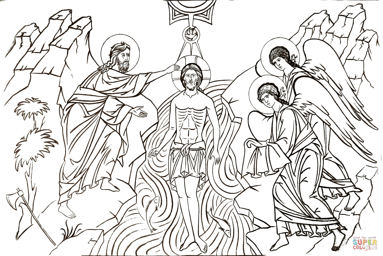 Theophany Coloring Page Free Printable Coloring Pages