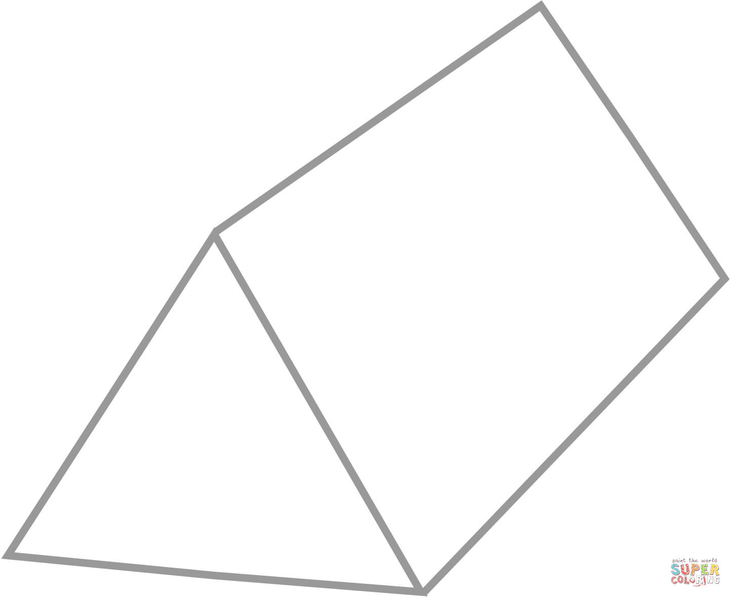 Ausmalbild Dreieckiges Prisma