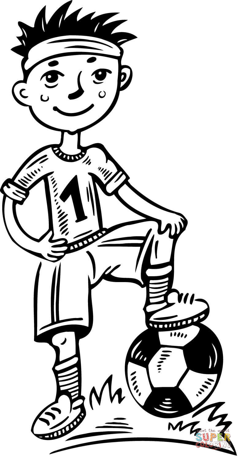 Soccer Player Coloring Pages Free Coloring Pages Download | Xsibe ...