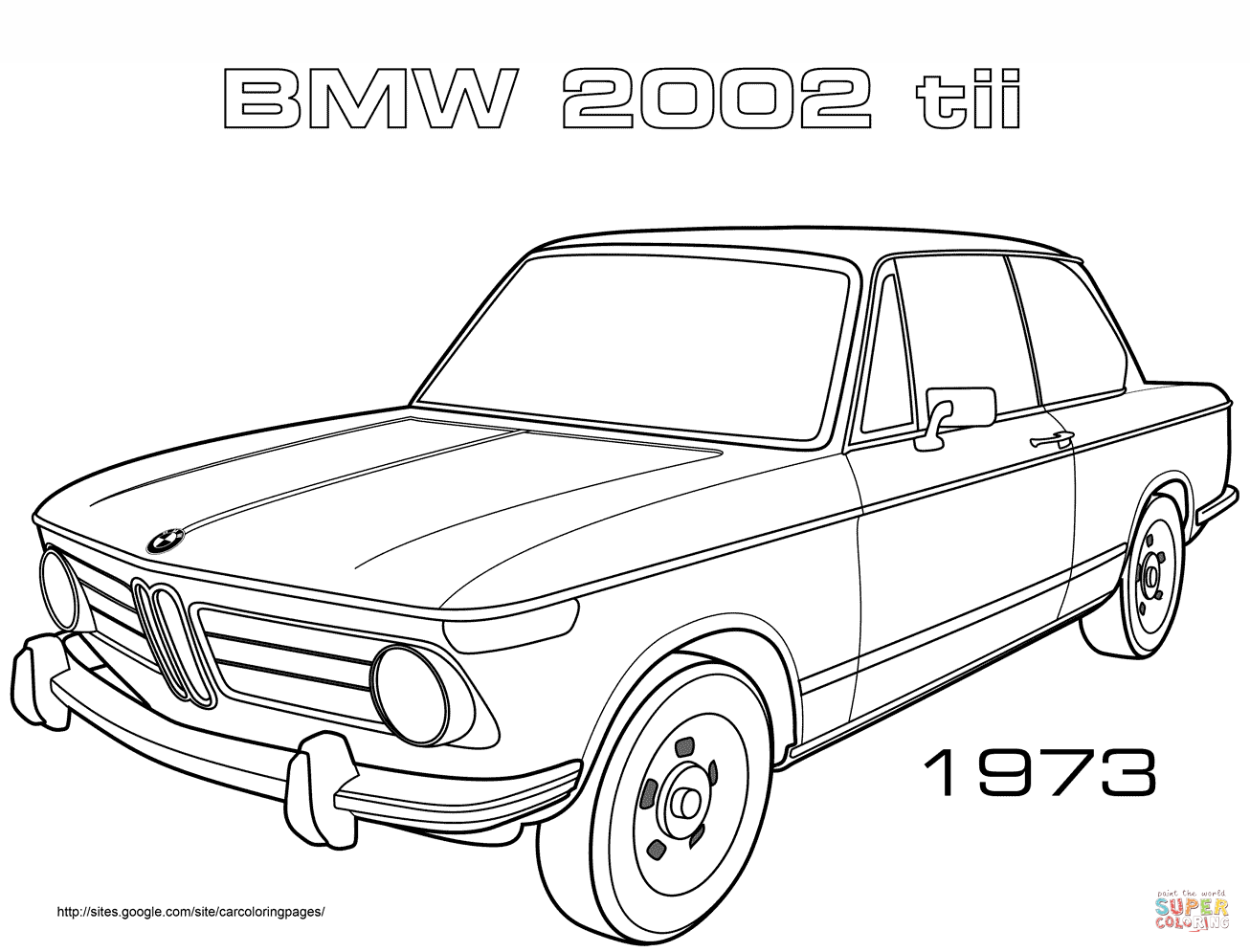 Bmw Tii Coloring Page