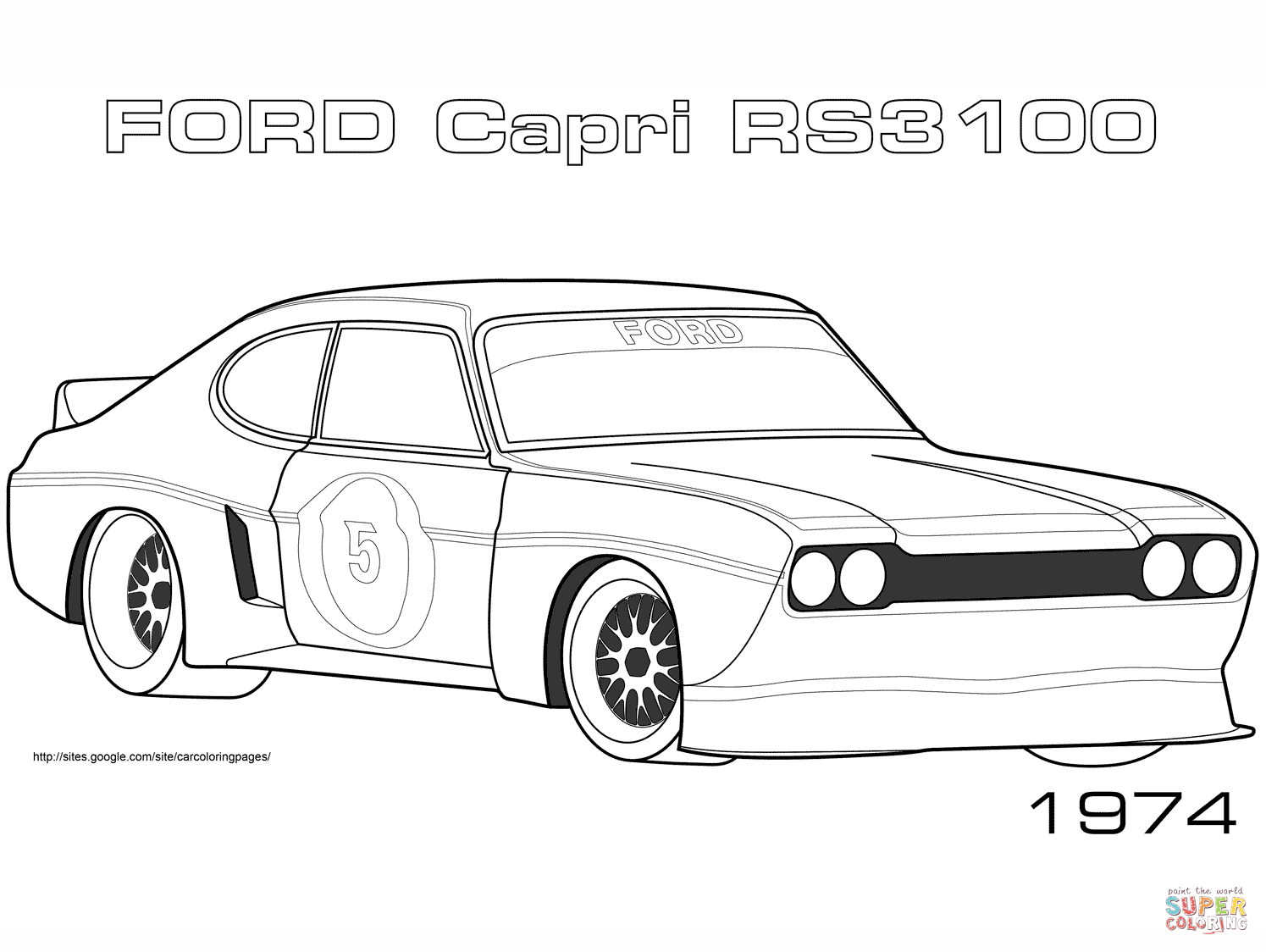 Ford Mustang Coloring Page Free Printable Coloring Pages