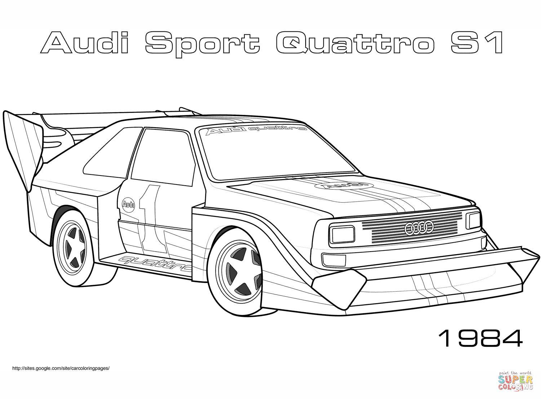 Audi Sport Quattro S1 Coloring Page