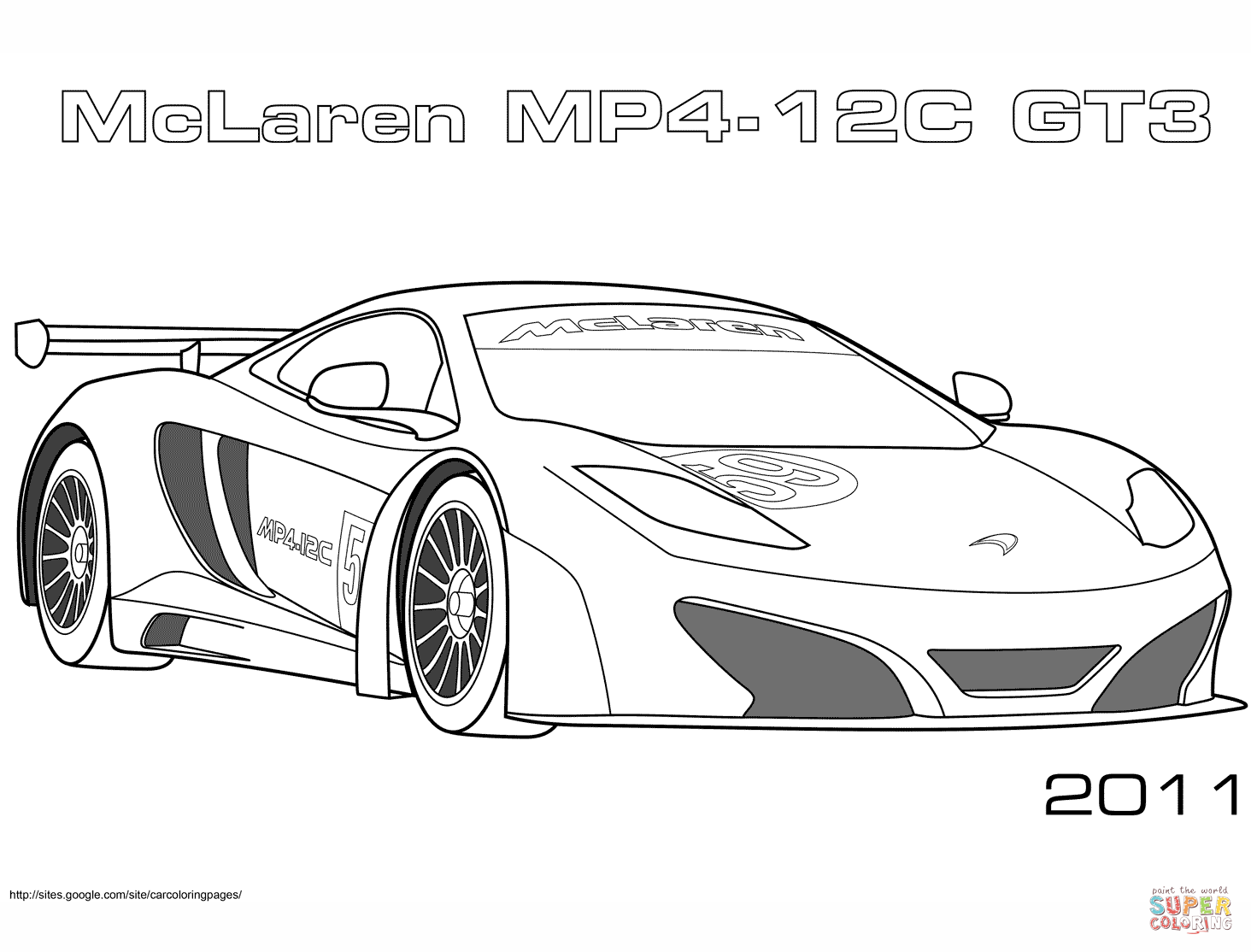 2010 Lexus Lfa Gt3 Coloring Page Free Printable Coloring Pages