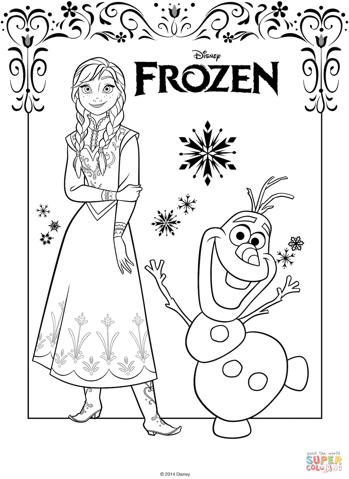 The Frozen Coloring Pages Free Coloring Pages