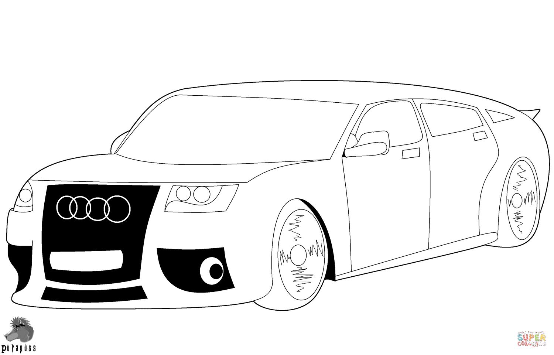 Auto Kleurplaat Audi Tt Auto S Kleurplaten