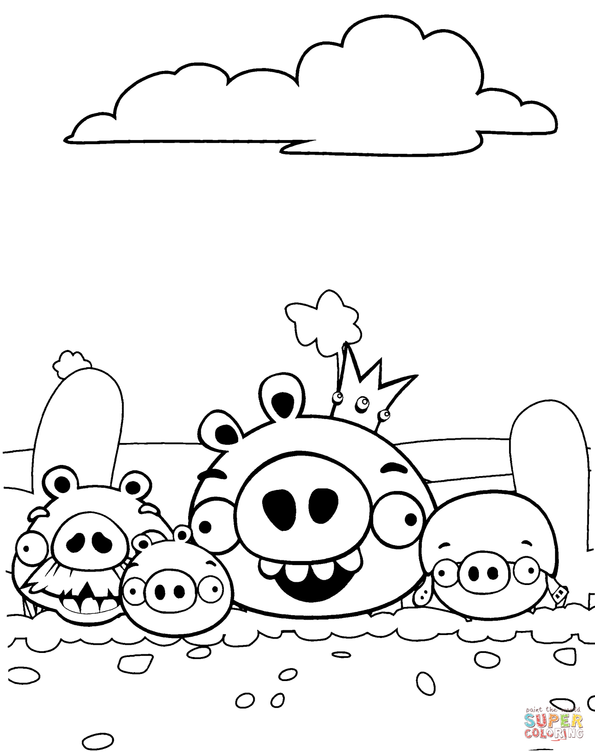 Bad Piggies Aka Pigs Coloring Page