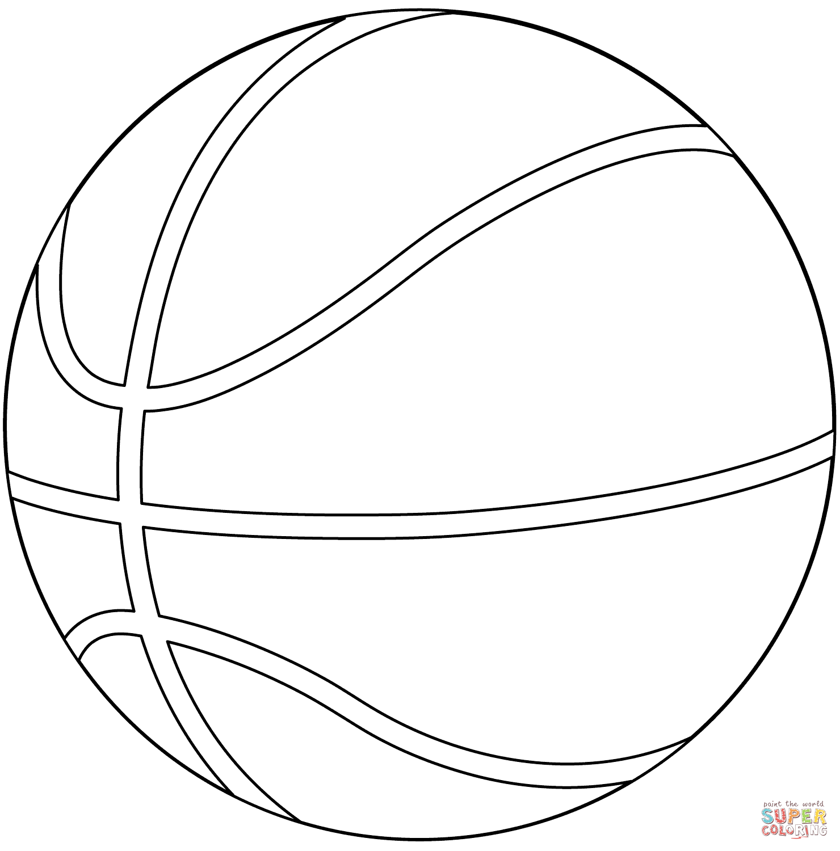 Basketball Ball Coloring Page