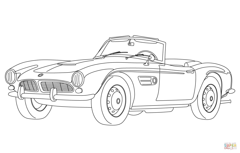 Ausmalbild Classisches Cabrio