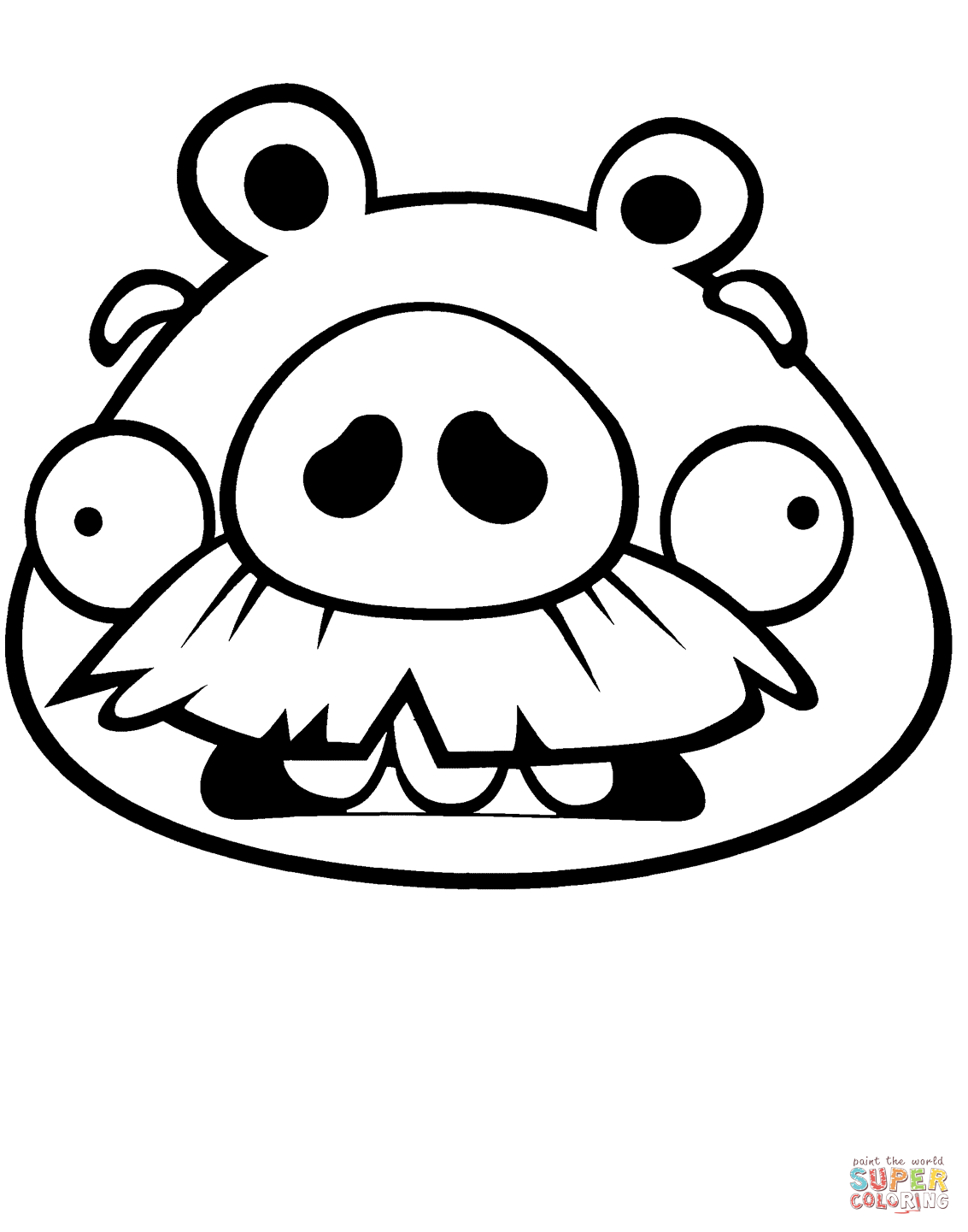 Foreman Pig Coloring Page