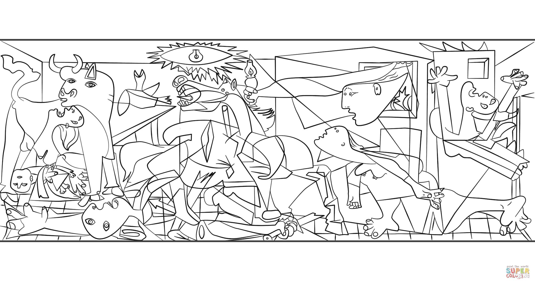 Dibujo De Guernica De Pablo Picasso Para Colorear